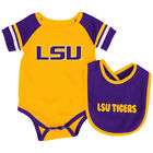 Louisiana State LSU Tigers Colosseum Roll-Out Infant One Piece and Bib Set