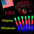 15-900PCS LED Light Up Foam Sticks Wands DJ Flashing Glow Stick Concert USA Sale