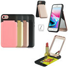 10pcs/lot Hybrid Multi-functional 3in 1 Mirror Kickstand Case for iPhone Samsung