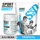 500G FLAVOURED 2:1:1 BCAA - STRAWBERRY OR TROPICAL PUNCH BRANCHED CHAIN AMINO