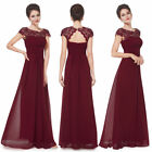 Ever-pretty Hot Long Burgundy Bridesmaid Wedding Dresses Evening Ball Gown 09993