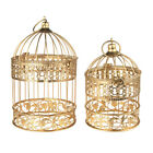 Gold Metal Bird Cage Centerpiece, Set of 2 Piece
