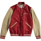 Chevignon Baseball Jacket w/Leather Sleeves Ketchup Red Beige