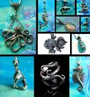 MERMAID DOLPHIN OCTOPUS SEAHORSE SHARK FISH NECKLACE PENDANT CHARM SILVER SEA