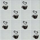 Tiles decor transfers stickers Kitchen/bathroom Decals-16 colors available