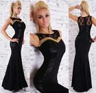 Sexy Women's Elegant Black Maxi Dress Lace Gown Evening Cocktail Dress