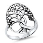Plain Tree Of Life .925 Sterling Silver Ring Sizes 3-12