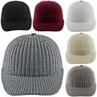 Unisex Beanie Peaked Cap Winter Fine knitting wool Warm Cold Thermal Hat Peak