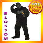 C126 Mens Gorilla Mighty Ape Monkey Scary Halloween King Kong Animal Costume