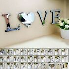 3D Mirror Letters Art Removable Wall Sticker Acrylic Decal Mural Home Decor DIY