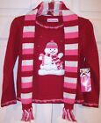 NWT Just Friends Red Snowman Holiday Sweater & Scarf Set, S (4) or M (5), $37