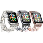 Luxury Beaded Faux Pearl Natural Stone Band Replacement for Apple Watch Strap