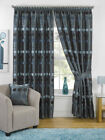 """Duck Egg Luxury Chenille Circle Ready Made Fully Lined 3"""" Tape Curtains"""