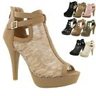 New Women Gladiator Strappy Chunky Platform High Heel Sandals Party Dress Shoes