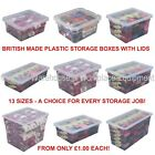 Spacemaster Clear Plastic Storage Box Boxes With Lids Removals House Home Garage