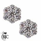 BJC® 18ct Yellow Gold Daisy Cluster Diamond Stud 1.00ct Earrings Studs ER40