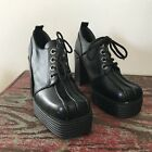 dr martens oxford street - New Street Feet Black Oxford Platform Chunky Ankle Boots Booties Punk 90s Style