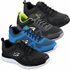 Mens Skechers Track-Bucolo Lace Up Gym Memory Foam Sport Trainers Sizes 7 to 12