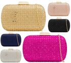 LADIES HARDCASE CLASP CHAIN JEWEL PURSE PARTY PROM FASHION CLUTCH BAGS