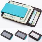 New Fashion Mens Synthetic Leather Front Pocket Wallet Magnetic ID N4U8