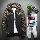 Men's Spring and Autumn new fashion hooded jacket camouflage jacket thin coat