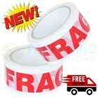 "FRAGILE STRONG PRINTED PARCEL PACKING TAPE2"" 50MM X50M MULTILISTING BOX SEALING"