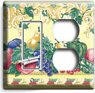 FRESH FRUITS VEGETABLES VICTORIAN STYLE LIGHT SWITCH OUTLET PLATES KITCHEN DECOR