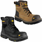 Mens Caterpillar Gravel 6 Steel Toe Cap Work Safety Boots Sizes 7 to 12