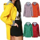 Ladies Rubberised Rain Womens Mac Waterproof Festival Hooded Coats Jacket Top
