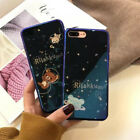Cartoon Little bear for iphone 6 6s 7 8 plus X Shockproof Slim Back Case Cover