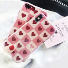 Blue Ray Lovely Heart shockproof IMD Phone case cover for iphone 6 6s 7 8 plus X