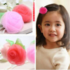 Lovely  Baby Girls Chiffon Rose Flower Hair Clip Hairpin for