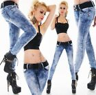Womens Hip Jeans Pants Blue Skinny Jeans Slim Style Stretch Material size 6-14