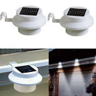 NEW 2/4/6 WHITE LED SOLAR POWER GARDEN LIGHTS GUTTER FENCE WALL OUTDOOR LIGHTING