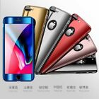 10pcs/lot 360° Chrome Full PC Hard Case+ Tempered Glass for iPhone 5/6/7/7P/8/X