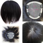 "MONO Base 5.9''x6.7"" Remy Human Hair Topper Hairpiece toupee For Women"