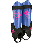 adidas Ghost Club Men's & Boy's Football Shin Pads With Ankle Guard Blue Red