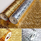 3D Waterproof Gold Mosaic Wallpaper Gold Silver KTV Counter post lattice Gold