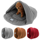 New Puppy Pet Cat Dog Nest Bed Warm Cave House Sleeping Bag Soft Mat Pad EA