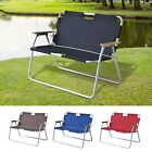 Outdoor 2 Seat Camping Bench Garden Lounge Lawn Chair Foldable Picnic Portable