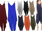 Ladies Strappy Cami Lagenlook Drape Baggy Romper Harem Summer Jumpsuit Playsuit