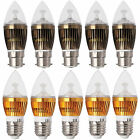 UK Dimmable B22 BC E27 ES 6W 8W 10W LED Chandelier Candle Light Bulbs White Lamp