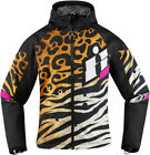 Icon Racing Womens Motorcycle Soft Shell Shaguar Jacket Size XS-2XL