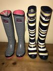 JOULES Wellies Striped Patterns Sz 5 6 7 FreeUKP&P