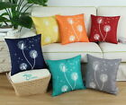Pack of 2 CaliTime Cushion Cover Throw Pillows Shell Dandelion Sofa Decor 18x18