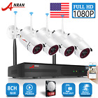 ANRAN 1080P Security Camera System Wireless WIFI 8CH NVR Home Outdoor CCTV 2TB