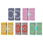 HEAD CASE DESIGNS MANDALA LEATHER BOOK WALLET CASE COVER FOR SONY PHONES 1