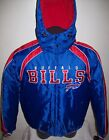 BUFFALO BILLS Winter Jacket Parka Fleece Lining MEDIUM  Blue & Red on eBay