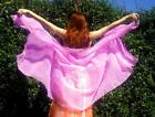 25 yard long Chiffon Veil New for Belly Dance Fairy Cosplay Pink