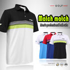 Short sleeve Mens Golf T-shirt POLO Sportswear Clothing Quick Dry Breathable